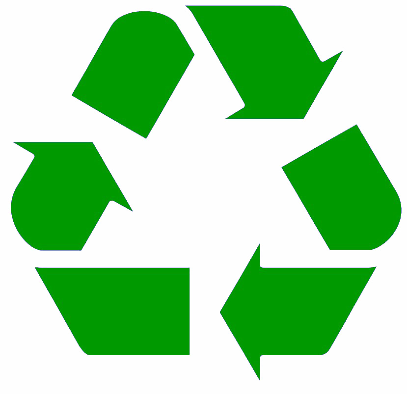 Recycling - green on white